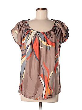 Lauren Moffatt Short Sleeve Silk Top Size M