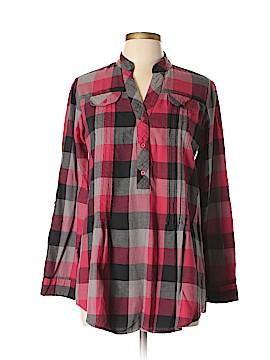 Millenium Long Sleeve Button-Down Shirt Size L