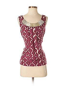 Velvet Sleeveless Silk Top Size P
