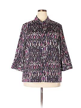 Alia Long Sleeve Button-Down Shirt Size 16