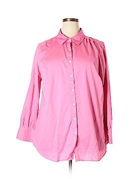 Avenue Long Sleeve Button-Down Shirt Size 22 - 24 Plus (Plus)