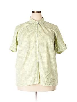Cabin Creek Short Sleeve Button-Down Shirt Size 20 (Plus)