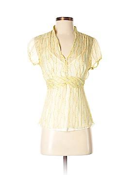 Jonathan Martin Short Sleeve Silk Top Size S