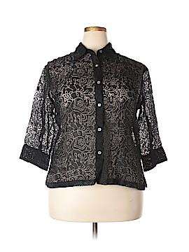 Goodclothes 3/4 Sleeve Button-Down Shirt Size XL