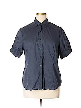 Kim Parrish Collection Short Sleeve Button-Down Shirt Size 1X (Plus)