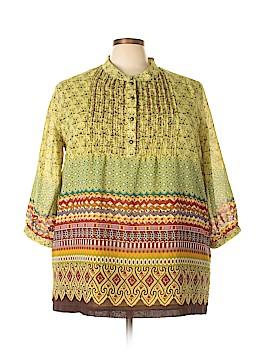 Ulla Popken 3/4 Sleeve Blouse Size 20 - 22 (Plus)