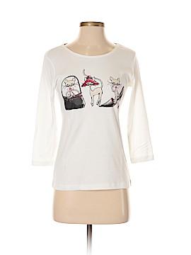 Karen Scott 3/4 Sleeve T-Shirt Size S (Petite)