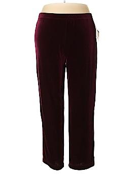 Bob Mackie Velour Pants Size 1X (Plus)