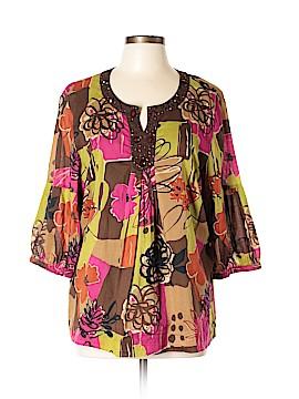 City Girl 3/4 Sleeve Blouse Size XL