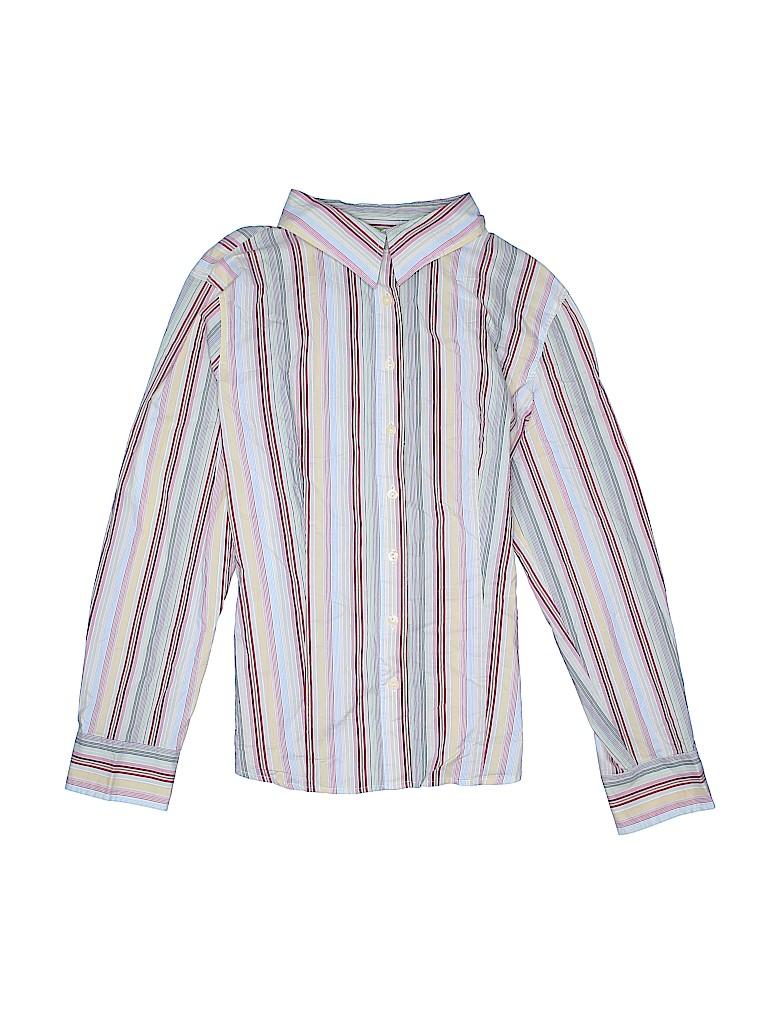 Attention Women Long Sleeve Button-Down Shirt Size XL