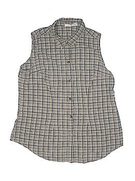Cherokee Sleeveless Button-Down Shirt Size 18/20W (Plus)