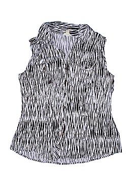 Brina & Em Sleeveless Button-Down Shirt Size XL