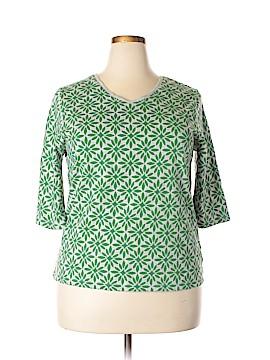 Liz & Me 3/4 Sleeve T-Shirt Size 0X (Plus)
