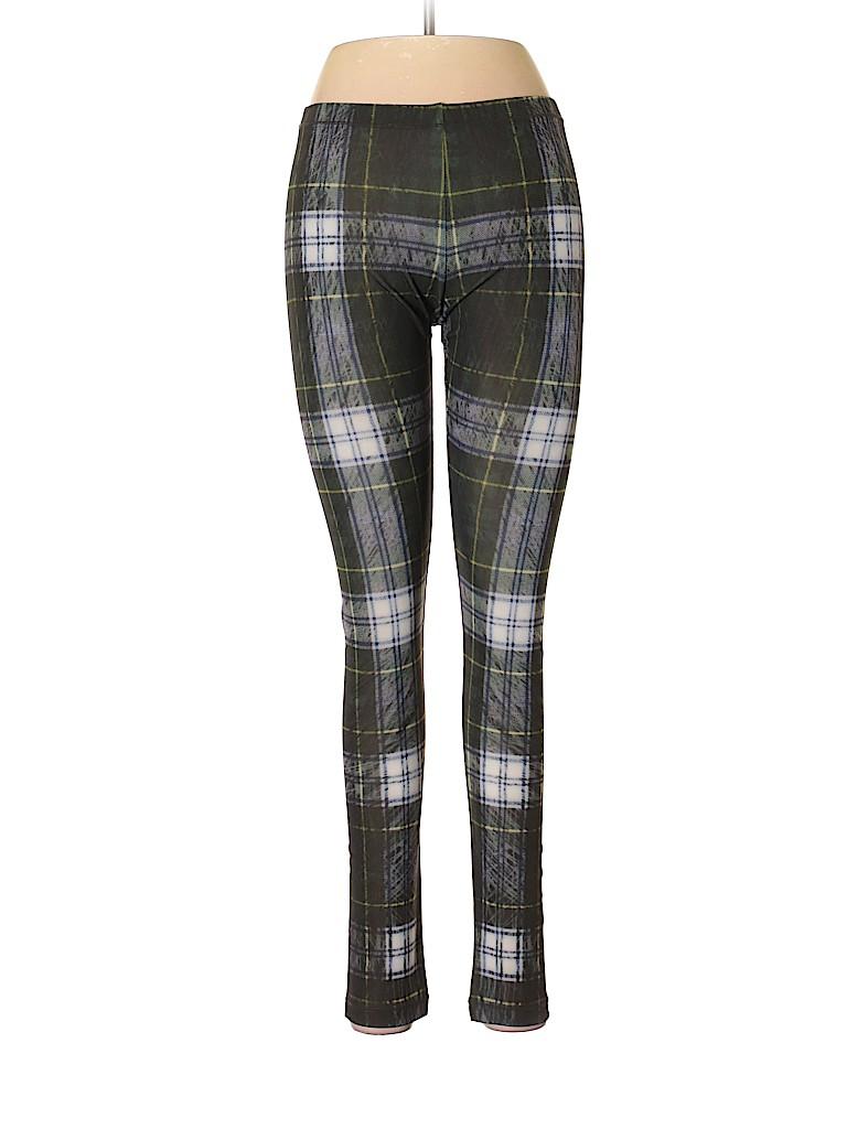 eac7a9d733a79 McQ Alexander McQueen Plaid Dark Green Leggings Size S - 80% off ...