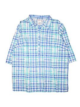 Maggie Sweet 3/4 Sleeve Button-Down Shirt Size XL