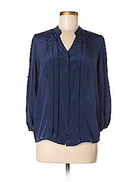 Chandi & Lia Long Sleeve Silk Top Size XS