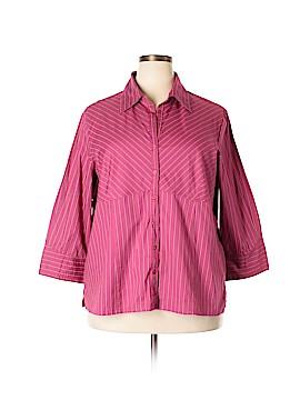 Millenium 3/4 Sleeve Button-Down Shirt Size 20 (Plus)