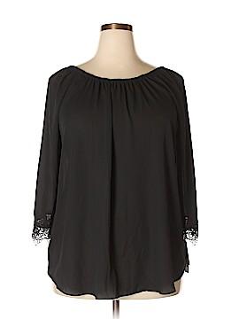 ING 3/4 Sleeve Blouse Size 1X (Plus)