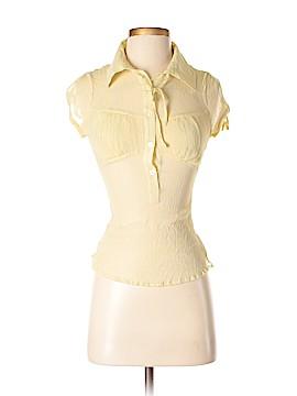 LUXE Short Sleeve Silk Top Size M