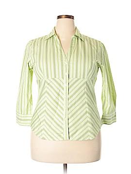 G.H. Bass & Co. 3/4 Sleeve Button-Down Shirt Size XL