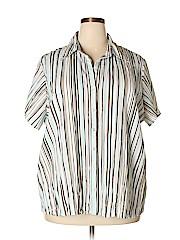 Worthington Women Short Sleeve Button-Down Shirt Size 2X (Plus)