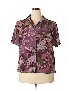 DonnKenny Classics Short Sleeve Blouse Size XL