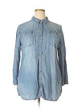 Chico's Long Sleeve Button-Down Shirt Size XL Petite (3) (Petite)