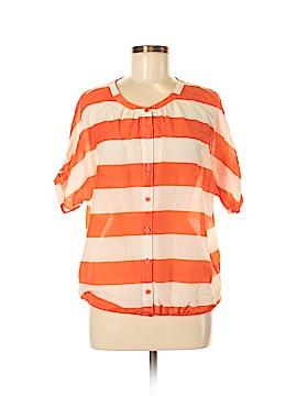 Ann Taylor LOFT Short Sleeve Button-Down Shirt Size M