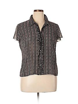 Worthington Short Sleeve Blouse Size 18 (Plus)