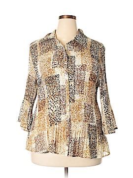 Fashion Bug 3/4 Sleeve Blouse Size 2X (Plus)