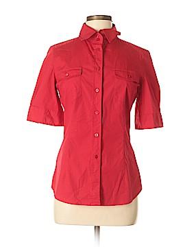 Moda International Short Sleeve Button-Down Shirt Size M