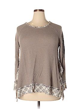 Hem & Thread Pullover Sweater Size 1X (Plus)