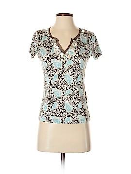 Lynn Ritchie Short Sleeve Silk Top Size S