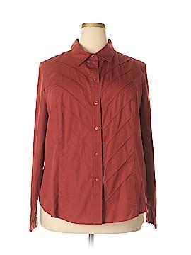 Covington Long Sleeve Button-Down Shirt Size 22 (Plus)