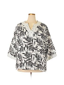 C.D. Daniels 3/4 Sleeve Blouse Size 2X (Plus)