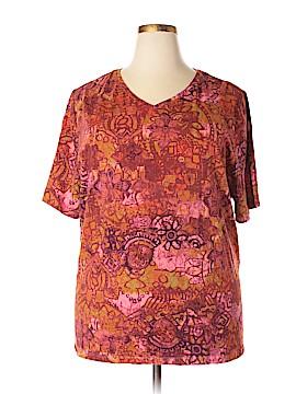 Liz & Me Short Sleeve T-Shirt Size 2X (Plus)