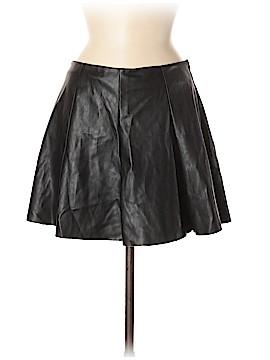 Aqua Leather Skirt Size M