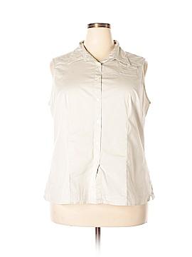 Covington Outlet Sleeveless Button-Down Shirt Size 22W (Plus)