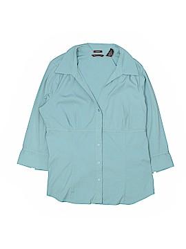 Hillard & Hanson 3/4 Sleeve Blouse Size XL