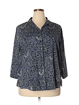 Rebecca Malone 3/4 Sleeve Button-Down Shirt Size 3X (Plus)