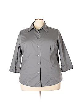 Chadwicks 3/4 Sleeve Button-Down Shirt Size 2X (Plus)