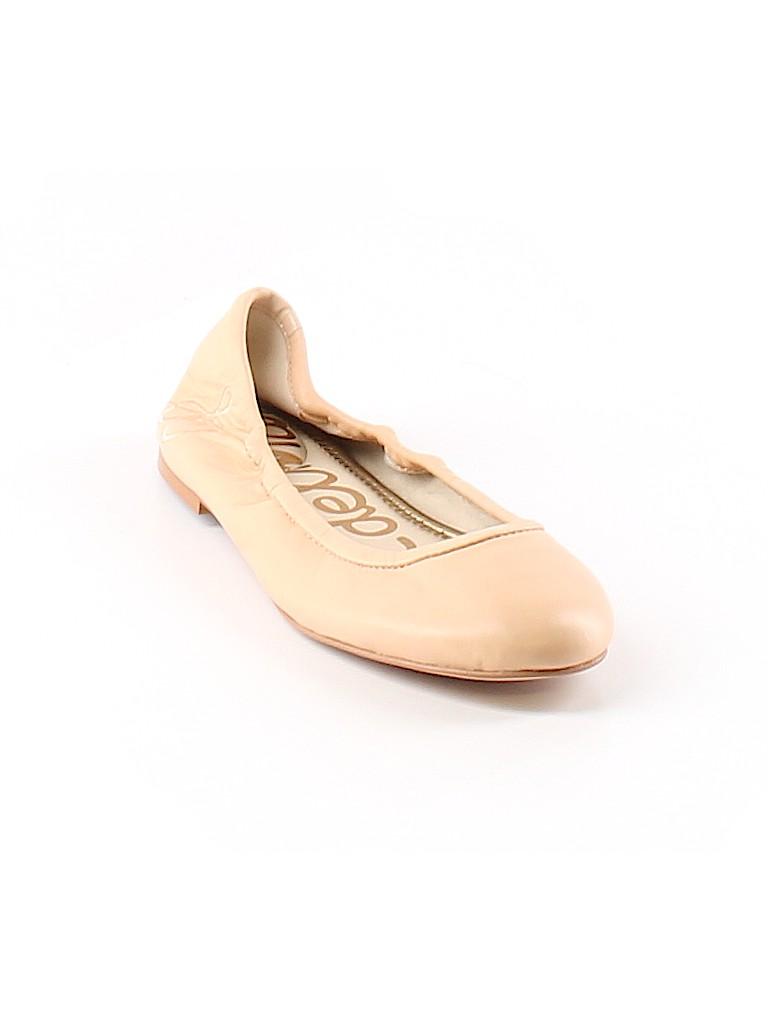 6789c9604897 Sam Edelman Solid Tan Flats Size 5 1 2 - 67% off