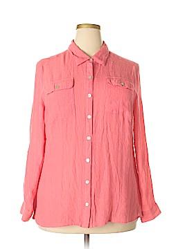 Element Long Sleeve Button-Down Shirt Size 2X (Plus)