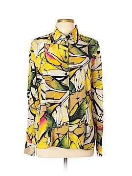 Escada Long Sleeve Silk Top Size 42 (EU)