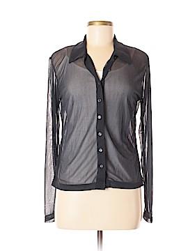 Milano Long Sleeve Button-Down Shirt Size M