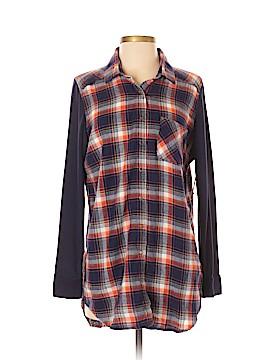 Make + Model Long Sleeve Button-Down Shirt Size S