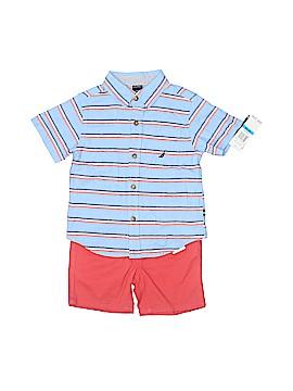 Nautica Short Sleeve Button-Down Shirt Size 24 mo