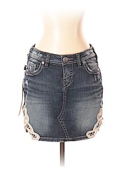 Silver Denim Skirt 27 Waist