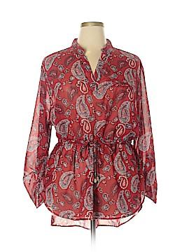 Indulge Long Sleeve Blouse Size 1X (Plus)