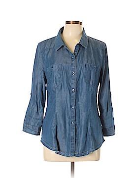 American Rag Cie 3/4 Sleeve Button-Down Shirt Size L